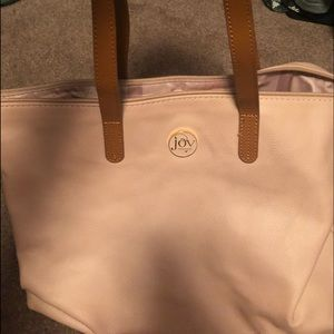 """Beautiful large rose color """"Joy"""" leather tote"""